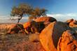 canvas print picture Granite boulders, Brandberg, Namibia