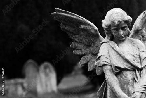 Foto auf Gartenposter Friedhof Angel
