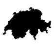 Detailed map of Switzerland