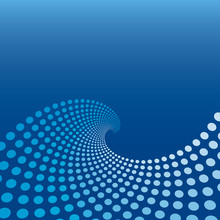 Blue Wave Circle Background