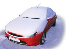 The Car Under Snow. Paths