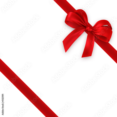 Fotografie, Obraz  red gift, ribbon, bow