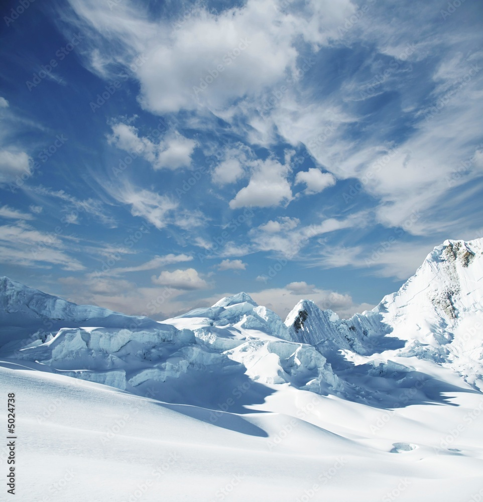 Fototapeta Snowcovered mountain