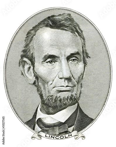 Portrait of Abraham Lincoln Fotomurales