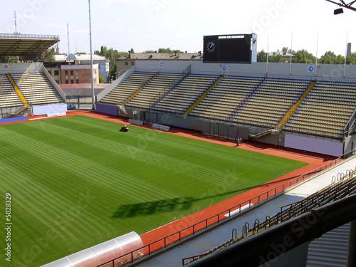 Foto op Plexiglas Stadion Empty soccer stadium 5