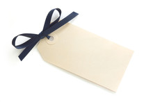 Gift Tag With Blue Bow