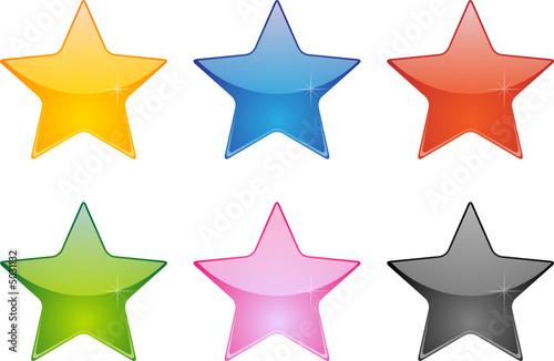 Obraz étoiles vectorielles, facilement modifiable - fototapety do salonu