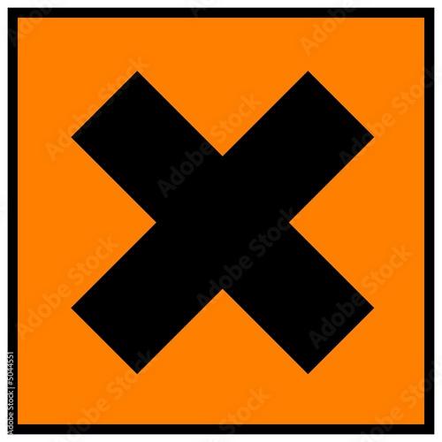 Fotografie, Obraz  harmful sign