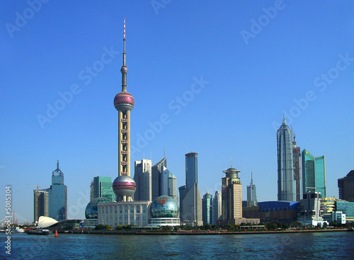 Tuinposter Shanghai Shanghai - Skyline (Pudong district)