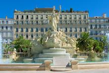 Grand Fountain, Place De Liberte, Toulon, France