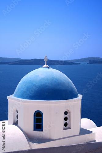 Foto-Kassettenrollo premium - Greek orthodox church -  Greece
