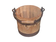 An Old Wooden Bucket.