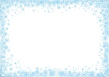 Blue Frame On White Background