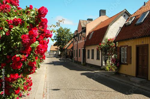 Photo  Gotland,Visby,Sweden, street scene