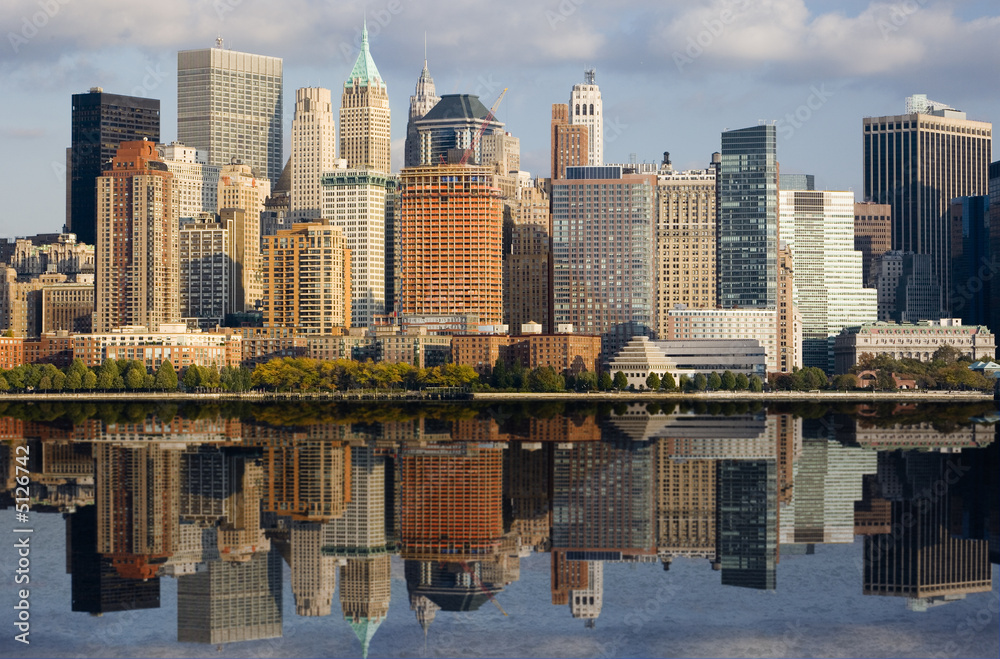 Fototapety, obrazy: Image of Lower Manhattan and the Hudson River.