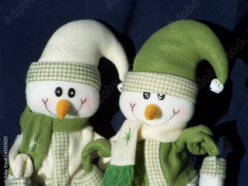 Photo  stewie and Stevie the Christmas snowmen