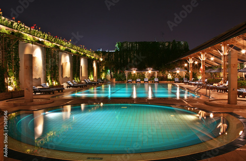 Photo  Swimming Pool at Night