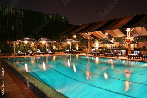 Photo  Swimming Pool at Night