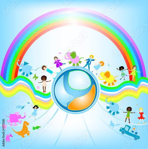 Foto-Stoff - children world (von dip)