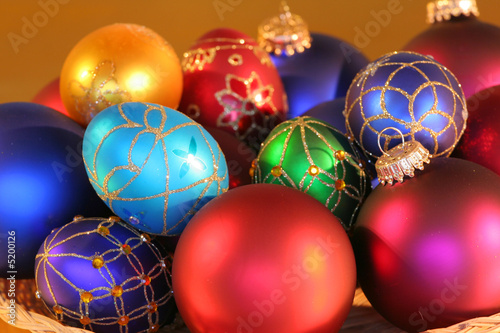 Beautiful colorful Christmas ornaments