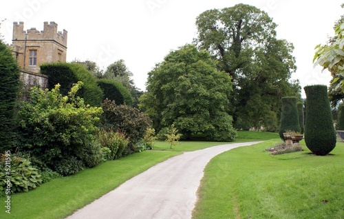Aluminium Prints Garden entrance/ path/ way to castle