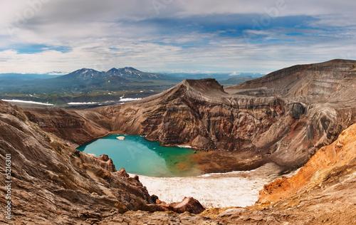Fotografia, Obraz Acid lake in volcanic crater