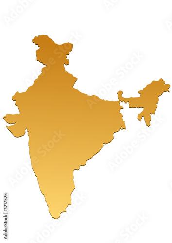 Carte De L Inde.Carte De L Inde Marron Buy This Stock Vector And Explore