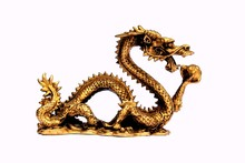 Gold Chinese Dragon Ornament Facing Right
