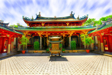 Chinese Temple Courtyard