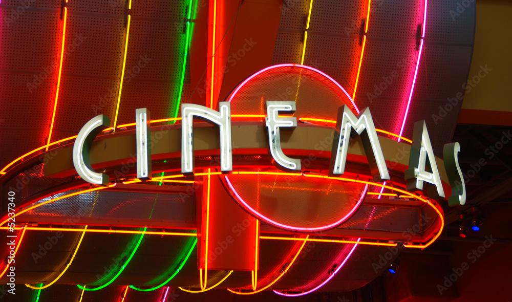 Cinema retro neon sign