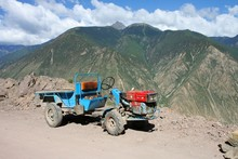 Small Chinese Tractor In Tibet