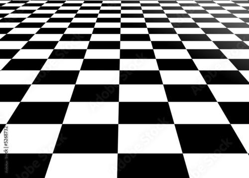 empty chessboard perspective Fototapet