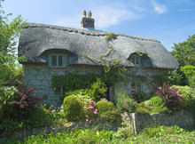 Typical English Cottage With C...