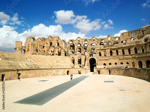 Photo  El Jem amphitheatre Tunisia