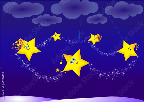 Foto-Stoff - magic stars (von Liudmila)