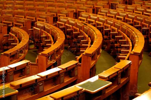 Fotografie, Obraz  Rows of chairs