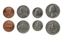 US Coins Collection Isolated O...