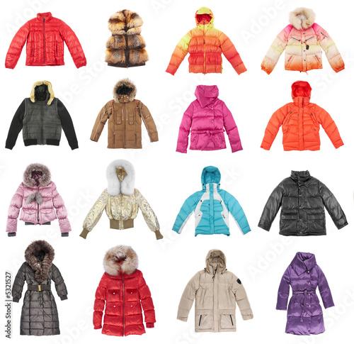 Obraz Sixteen winter jackets - fototapety do salonu