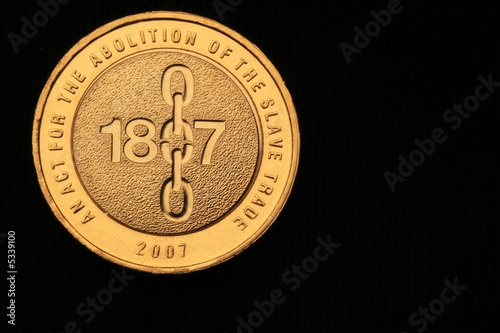 Photo Coin commemorating  the abolition of  slavery