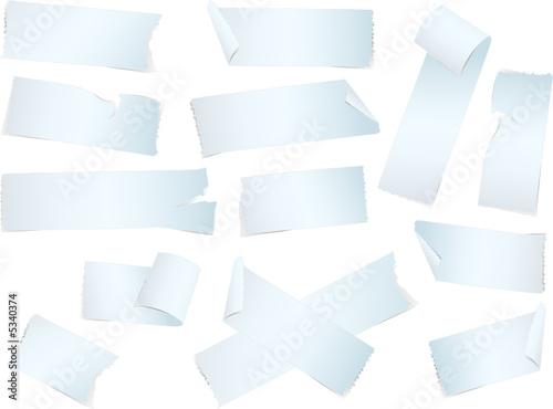 Lot d'adhésif vectoriel Canvas Print