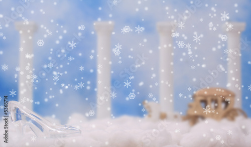 Fotografie, Obraz  Glass Slipper on Clouds, Shallow DOF, Focus on Shoe