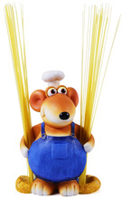 Mouse Chef With Spaghetti