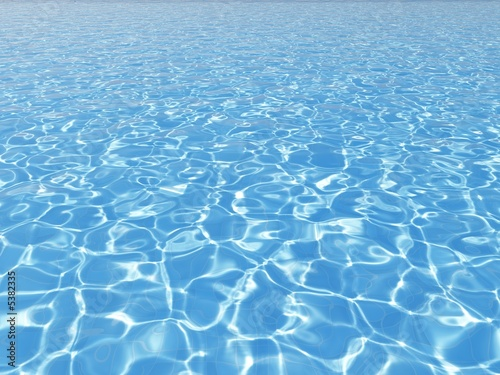 blue water surface in outdoor pool