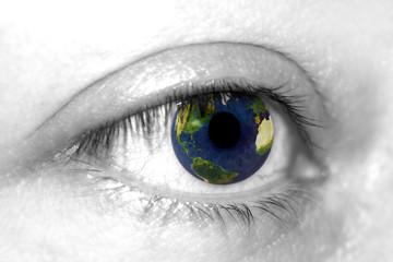 Earth on eye