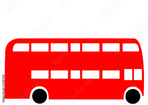 Photo  London Routemaster red bus