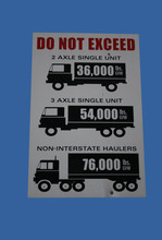 Truck Weight Limit Sign
