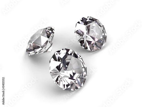 Three diamonds on white background #5403552