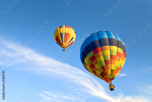 Tuinposter Ballon hot air balloons and clouds