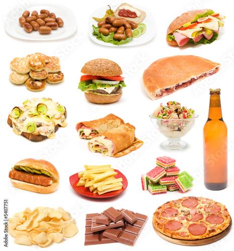 Collection of  junk food © NiDerLander