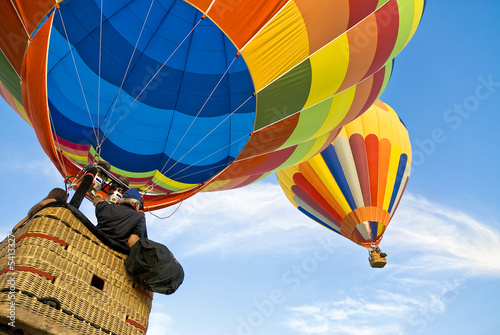 Foto op Plexiglas Ballon hot air balloon and balloonists